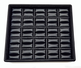 PRESENTATION TRAY FOR 25 RINGS BLACK